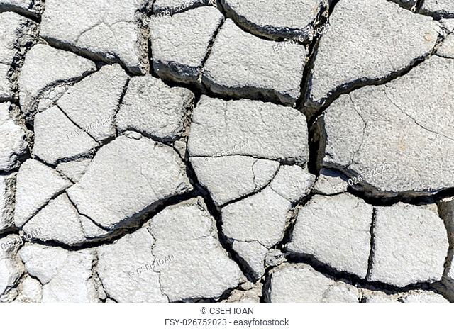 Soil drought cracked texture and background