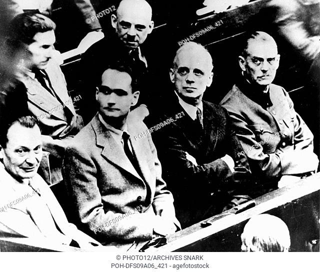 Nuremberg Trials. Goering, Hess, Ribbentrop and Keitel 20th Germany - World War II Paris. Jewish Documentation Center