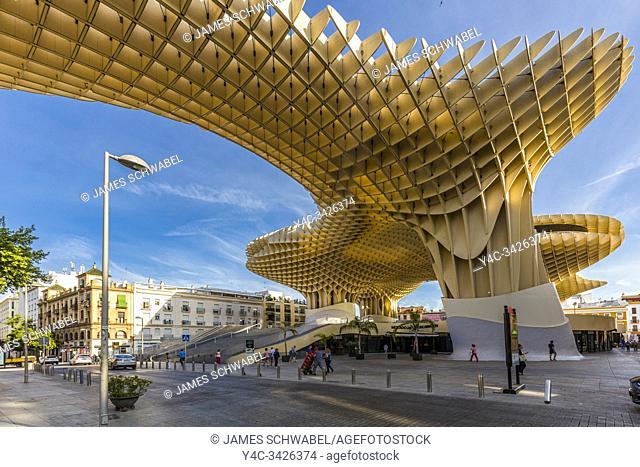 Mettopol Parasol or Incarnacionâ. . s Mushrooms a wooden structure in La Encarnacion square in Seville Spain