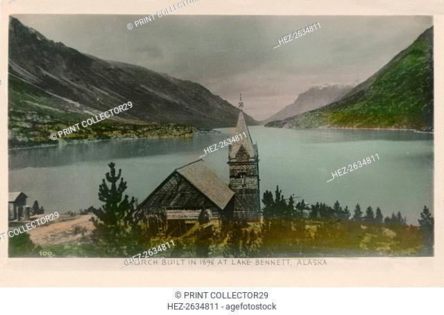 'Church Built in 1898 at Lake Bennett, Alaska', c1910. Artist: Unknown