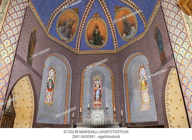 Interior, Saint-Michel Church, Saint-Michel-de-Bannières, Lot, Occitanie, France, Europe