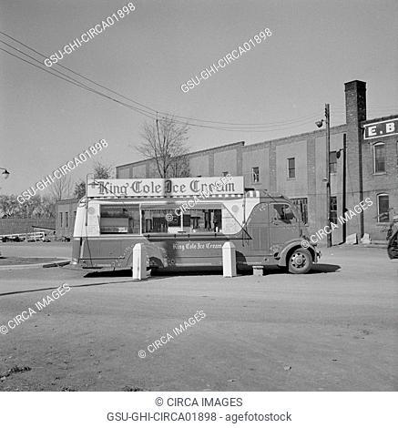 Ice Cream Vendor, Syracuse, New York, USA, John Collier for Office of War Information, October 1941