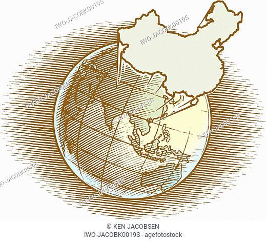 China in the Globe