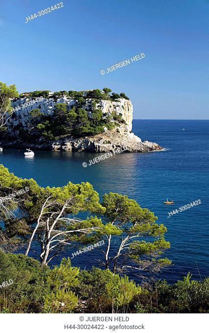 Spain Menorca Cala Galdana viewpoint