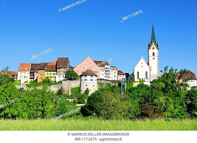 View of the historic centre of Engen, county of Constance, Baden-Wuerttemberg, Germany, Europe