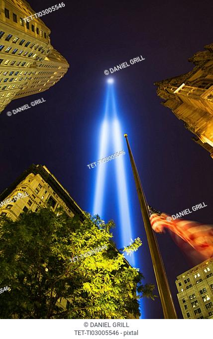 World Trade Center Tribute lights
