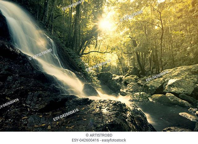 Beautiful Kondalilla Falls in Kondalilla National Park., Sunshine Coast