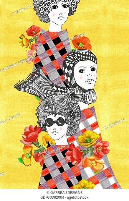 Retro women design