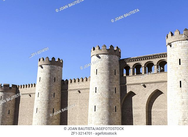 Alfajeria palace, fortified medieval islamic palace, Zaragoza