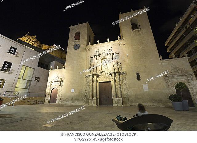 Basilica of Santa Maria in the city of Alicante, Spain