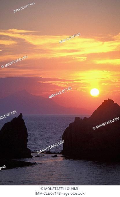 Kaspakas, sunset , Lemnos, Northeastern Aegean, Greece
