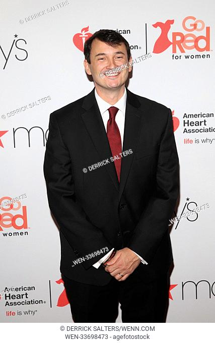 American Heart Association's® Go Red For Women® Red Dress Collection® 2018 presented by Macy's Held at the Hammerstein Ballroom Featuring: Hal Lawton Where: New...