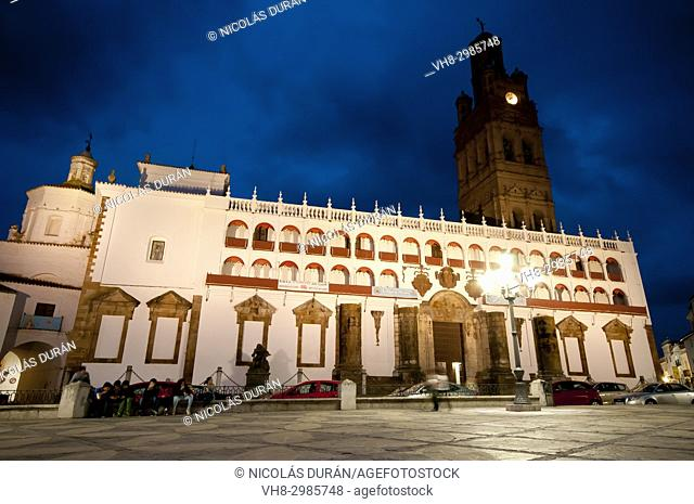 Plaza of Spain, Llerena, Province of Badajoz, Extremadura, Spain