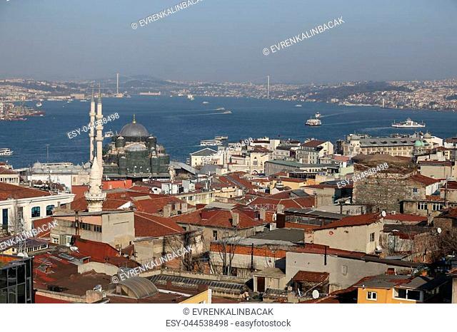 Bosphorus Strait and Istanbul City in Turkey