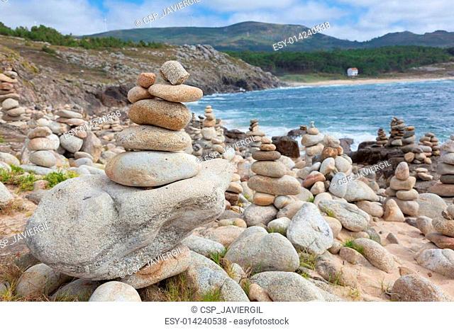 Beach near at castro de Baro?a, Porto Do Son, La Coru?a, Galicia, Spain
