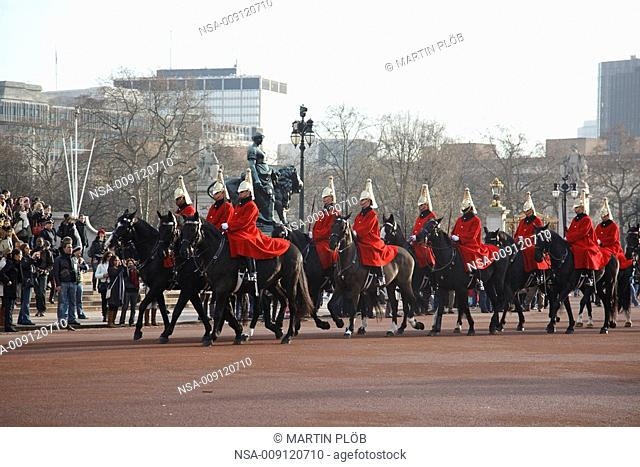 chaning of the guard at Buckingham Palace