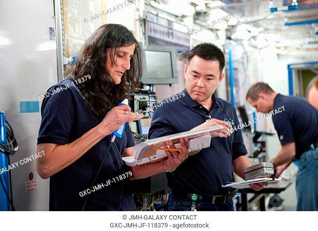 NASA astronaut Sunita Williams, Expedition 32 flight engineer and Expedition 33 commander; Japan Aerospace Exploration Agency (JAXA) astronaut Akihiko Hoshide