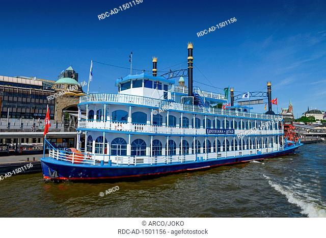 Louisiana Star, Landungsbruecken, St. Pauli, Hamburg, Deutschland