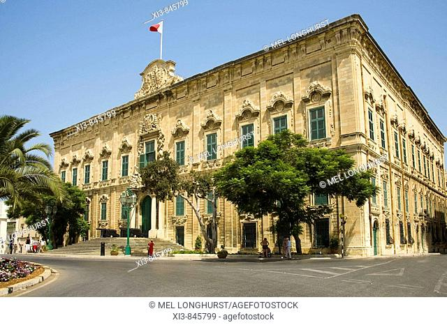 Auberge de Castille et Leon, The Prime Minister's office, Castille Place, Valletta, Malta