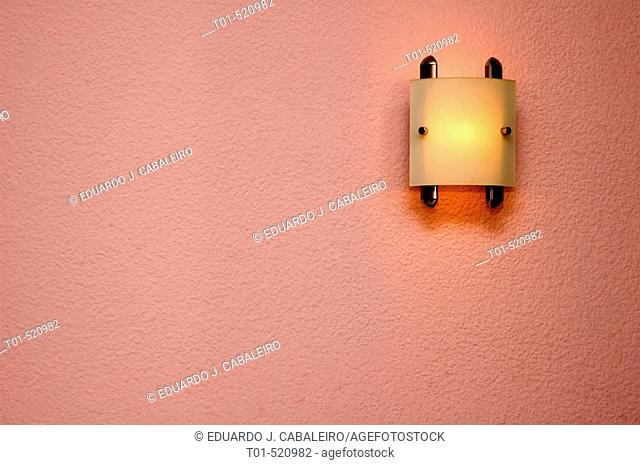 light on, ceiling decorating a wall