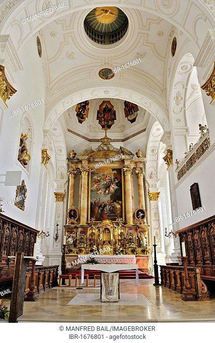 Parish church of Mariae Himmelfahrt or Mary's Assumption, 1624-28, Marienplatz, Weilheim, Bavaria, Germany, Europe