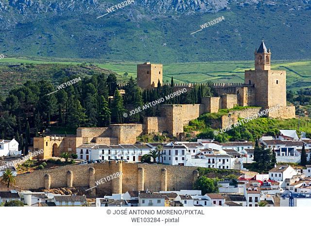 Alcazaba fortress (12th-16th century), Antequera, Malaga province, Andalusia, Spain