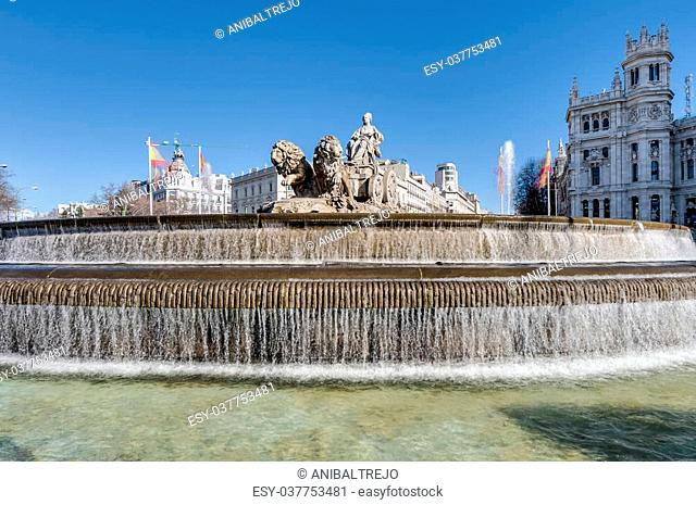 The fountain of Cibeles, named after Cybele (or Ceres), Roman goddess of fertility, is seen as one of Madrid s most important symbols in Spain