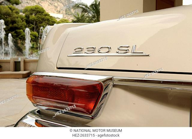 Mercedes Benz 230SL 1963. Artist: Simon Clay