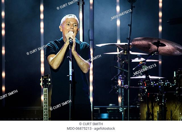Curt Smith of the english new wave and pop rock band Tears For Fears performs live on stage at Mediolanum Forum. Milan (Italy), February 23rd, 2019