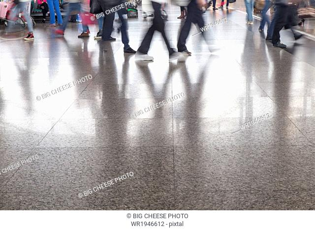 Travelers in the Chongqing airport, Chongqing, China