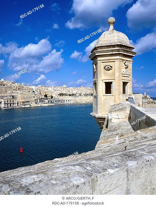 View from Fort St Michael, Valletta, Malta