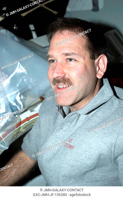Flight Day 7 of the STS-109 mission finds payload commander John M. Grunsfeld back in the shirt-sleeve environment of the Space Shuttle Columbia