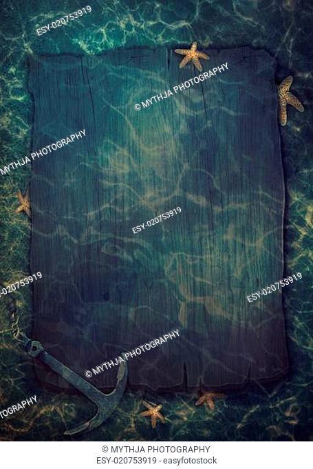 Summer underwater background