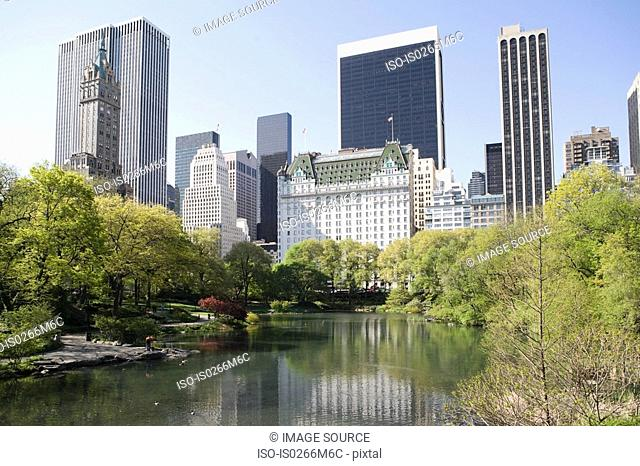 Skyscrapers and central park