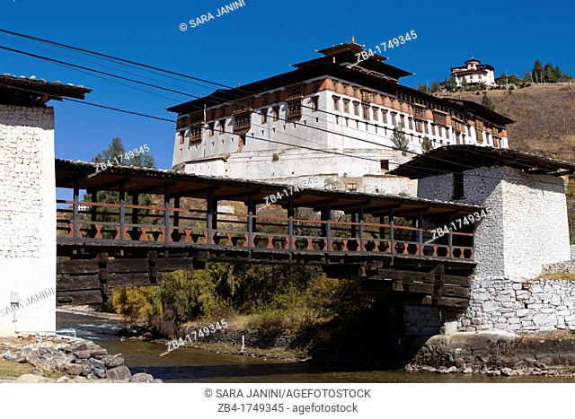 Ta Dzong bridge, Paro, Bhutan