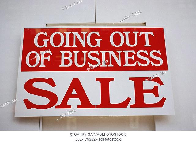Going out of business sale sign