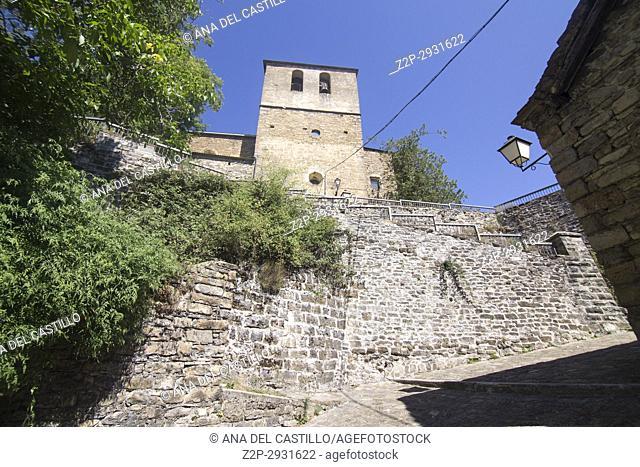 Church in Borau village Huesca Spain