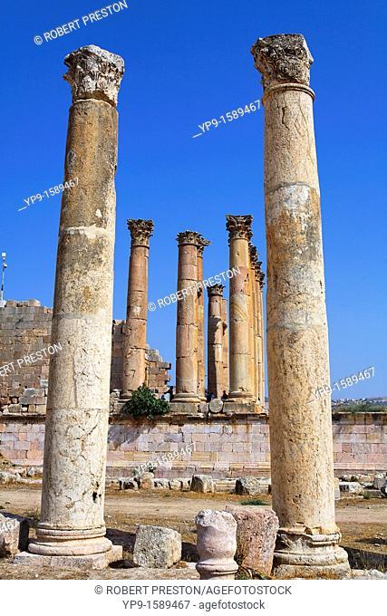 The Temple of Artemis at Gerasa, Jerash, Jordan