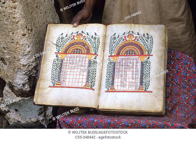 Manuscripts. Kebran Gabriel church, near Bahar Dar. Ethiopia