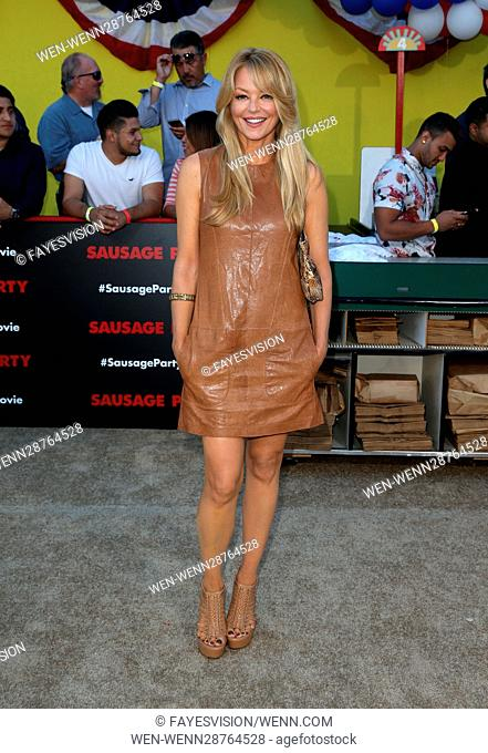 """Premiere Of Sony's """"""""Sausage Party"""""""" Featuring: Charlotte Ross Where: Westwood, California, United States When: 09 Aug 2016 Credit: FayesVision/WENN"""