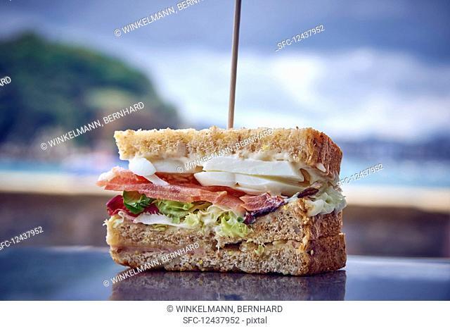 A club sandwich (close up)