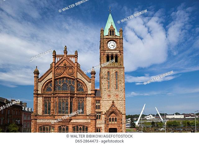 UK, Northern Ireland, County Londonderry, Derry, Guildhall Building