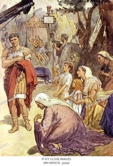 According to tradition, the Roman patrician Coriolanus so favored the upper class that he was banished from Rome. When he helped the neighboring Volscians...