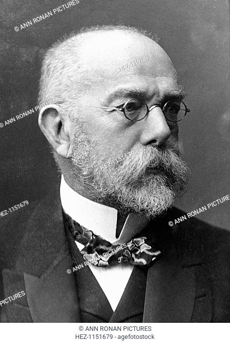 Robert Koch (1843-1910) German bacteriologist and physician. Tubercule bacillus: Tuberculin: Cholera bacillus: Nobel prize for physiology and medicine 1905