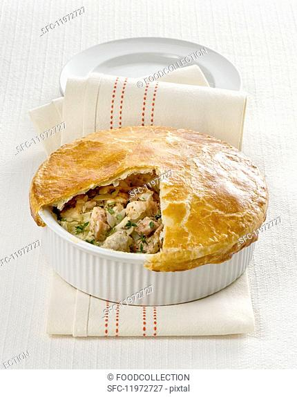 Sliced chicken pie