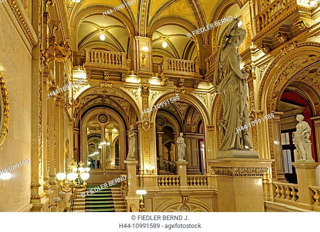 Viennese state opera, opera house