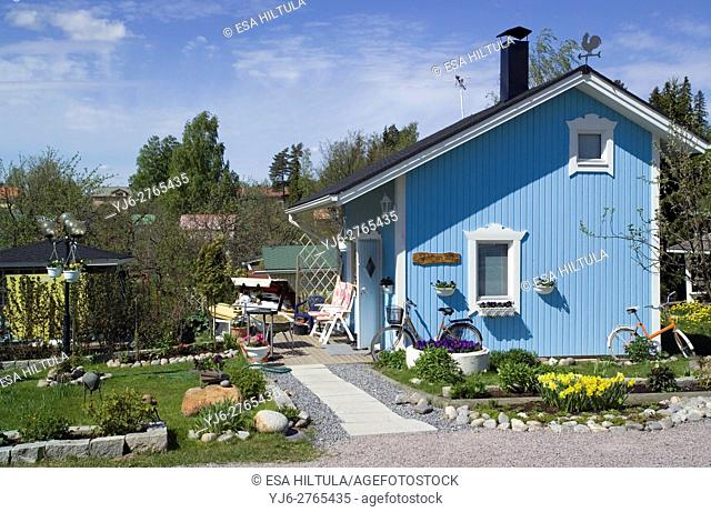 Litukka allotment garden cottages in Tampere Finland