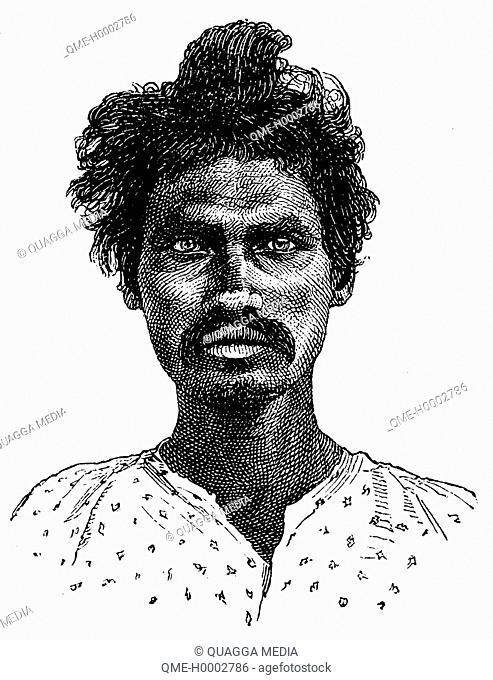 Portrait of a Coolies from Madras
