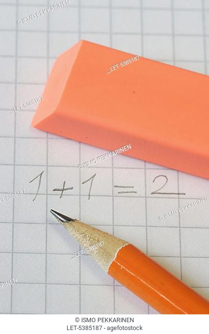 School  Mathematics  Pencil and rubber  Finland