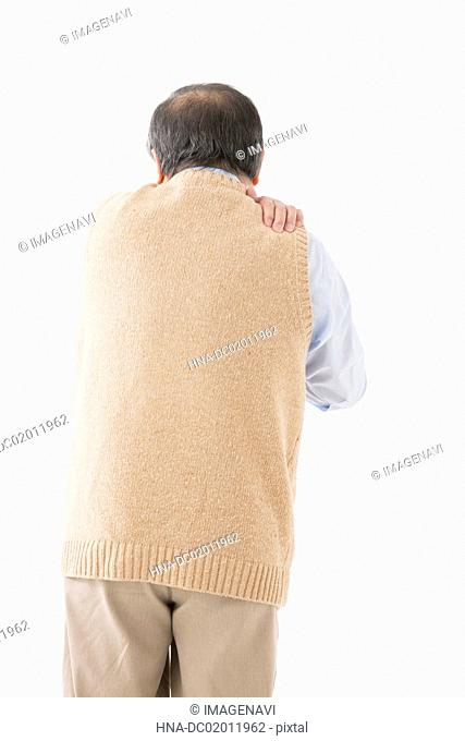 Senior man with shoulder pain